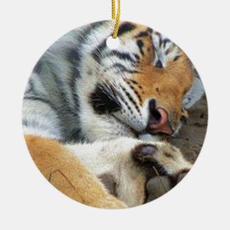 Ornamento De Cerâmica Tigre do sono