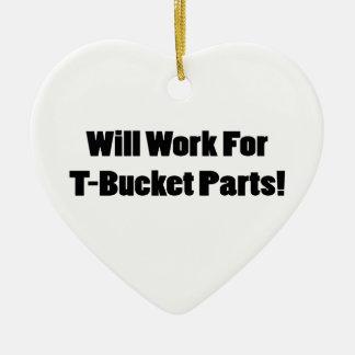 Ornamento De Cerâmica Trabalhará para presentes de Tbucket das peças de
