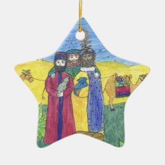 Ornamento De Cerâmica Três homens sábios