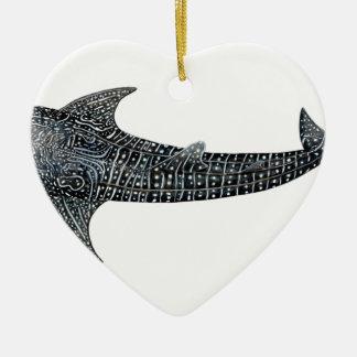 Ornamento De Cerâmica Tubarão de baleia