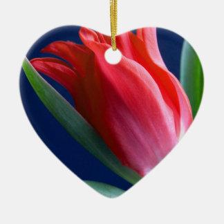 Ornamento De Cerâmica Tulipa elegante Vermelha