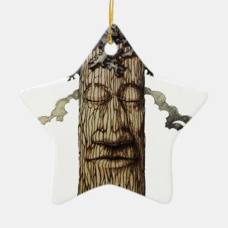 Ornamento De Cerâmica Um cobrir poderoso da árvore