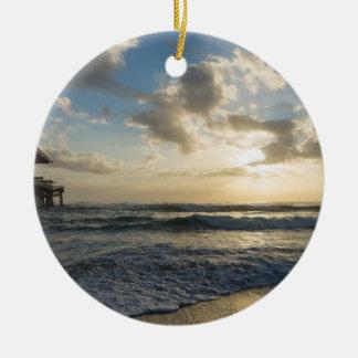 Ornamento De Cerâmica Uma manhã gloriosa da praia