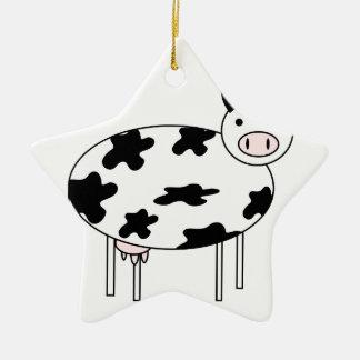 Ornamento De Cerâmica Vaca bonito