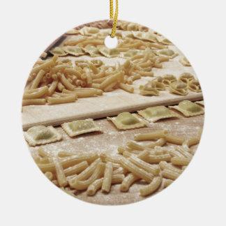 Ornamento De Cerâmica Vária mistura de massa caseiro italiana fresca