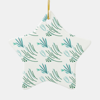 Ornamento De Cerâmica Verde das algas no branco