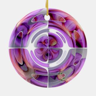 Ornamento De Cerâmica Vermelho e colagem abstrata do Lilac