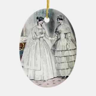 Ornamento De Cerâmica Vestido de casamento da noiva do vintage