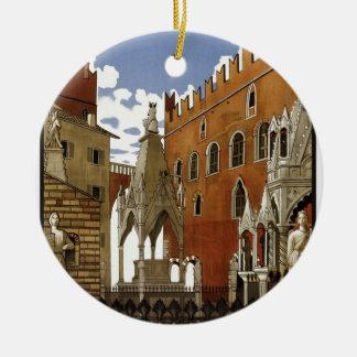 Ornamento De Cerâmica Viagem de Verona do vintage
