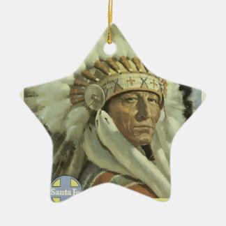 Ornamento De Cerâmica Viagens vintage Santa Fé New mexico EUA