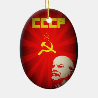 Ornamento De Cerâmica vintage comunista soviético f da propaganda de