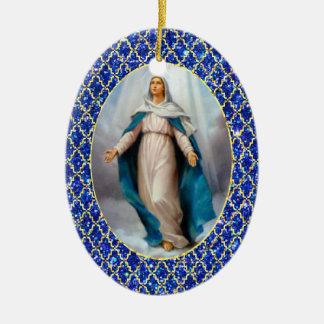 Ornamento De Cerâmica Virgem Maria abençoada