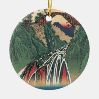 Ornamento De Cerâmica Vista da ponte sobre o rio de Ina, Nojiri por
