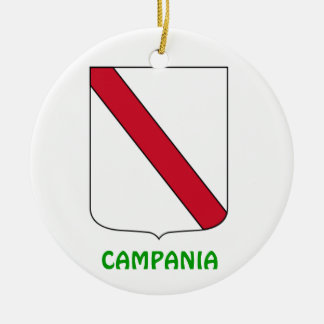 Ornamento de Cristmas da brasão do CAMPANIA