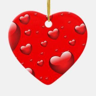 Ornamento de flutuação dos corações