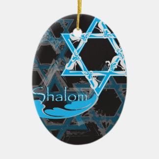 Ornamento de Hanukkah 2017 - estrelas de David