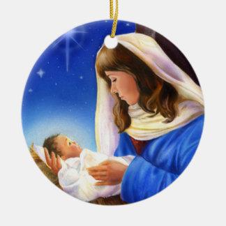 Ornamento de Mary e de Jesus