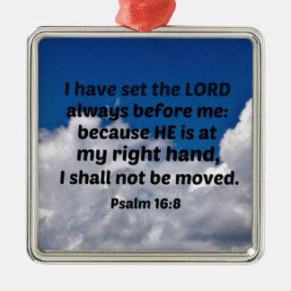 Ornamento De Metal 16:8 do salmo eu ajustei o senhor sempre antes de