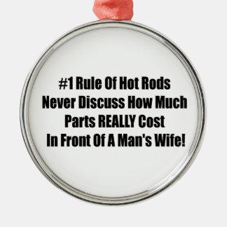 Ornamento De Metal 1 regra de hot rod nunca discute quanto peças com