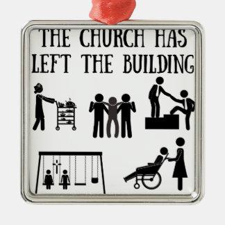 Ornamento De Metal A igreja saiu da construção