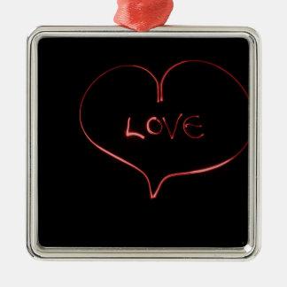 Ornamento De Metal Amor do laser