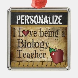 Ornamento De Metal Amor que é um vintage do professor de biologia |