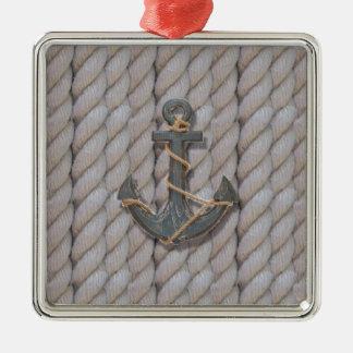 Ornamento De Metal âncora náutica da madeira da corda da praia