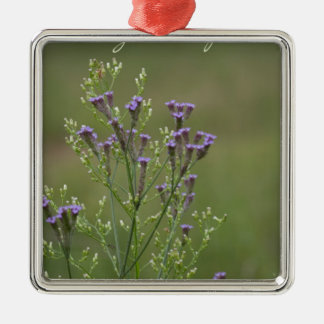 Ornamento De Metal Aprecie o poema simples dos Wildflowers do Verbena