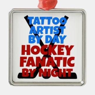 Ornamento De Metal Artista do tatuagem do amante do hóquei