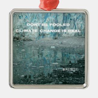 Ornamento De Metal As alterações climáticas são geleira de