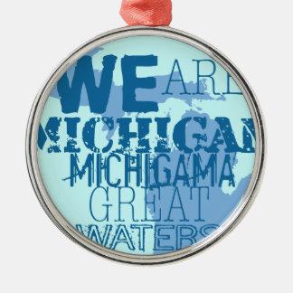 Ornamento De Metal As grandes águas tribais de Michigan Michigama