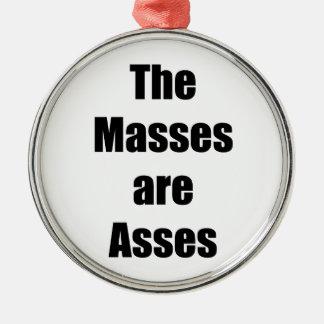 Ornamento De Metal As massas são burros