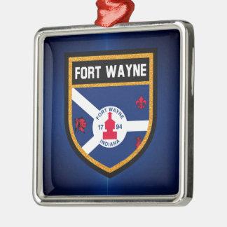 Ornamento De Metal Bandeira de Fort Wayne