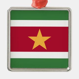Ornamento De Metal Bandeira de Suriname