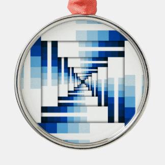 Ornamento De Metal Camadas geométricas de azul