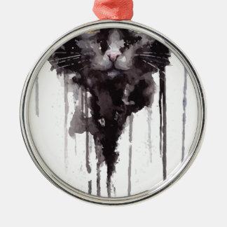 Ornamento De Metal Camisa irritada do gato T