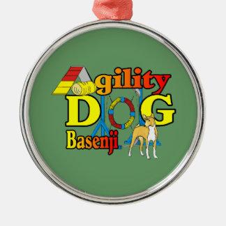 Ornamento De Metal Cão da agilidade de Basenji