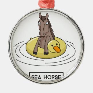 Ornamento De Metal Cavalo de mar