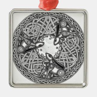 Ornamento De Metal Céltico, lebre de observação da lua