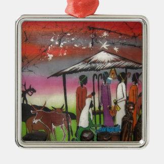 Ornamento De Metal Cena africana da natividade do Natal