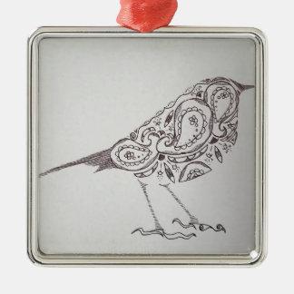 Ornamento De Metal Chickadee