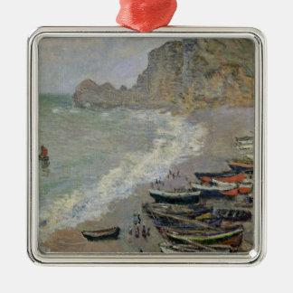Ornamento De Metal Claude Monet | Etretat, praia e d'Amont de Porte
