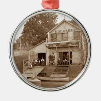 Ornamento De Metal clube do rio do Fox do clube dos homens dos 1880's