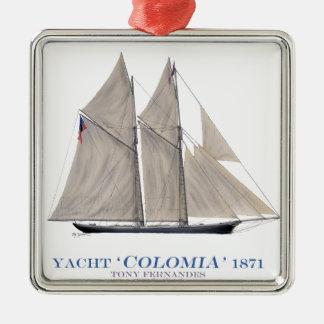 Ornamento De Metal Colômbia 1871