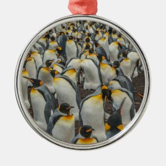 Ornamento De Metal Colônia do pinguim de rei, Malvinas