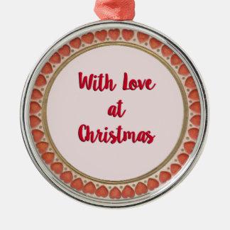 Ornamento De Metal Com amor no Natal