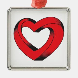 Ornamento De Metal coração impossìvel torcido