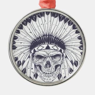 Ornamento De Metal Crânio indiano