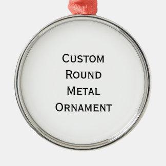 Ornamento De Metal Criar prata redonda feita sob encomenda o
