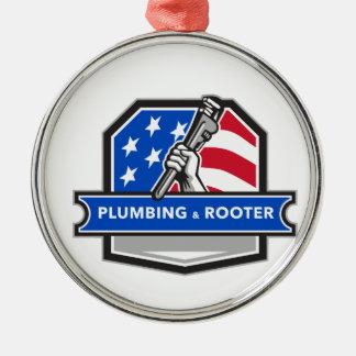 Ornamento De Metal Crista da bandeira dos EUA da chave de tubulação